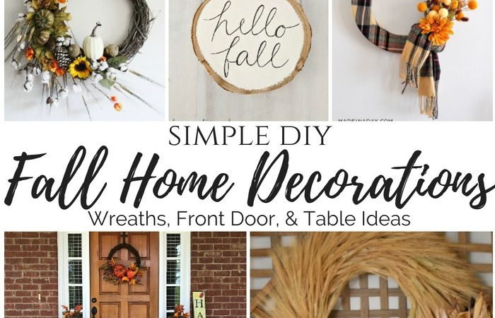 Simple DIY Fall Home Decorations