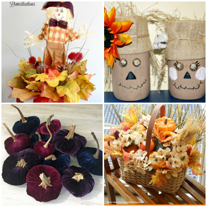 Simple DIY Fall Home Decorations for the table