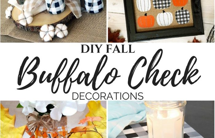 DIY Buffalo Check Fall Decorations