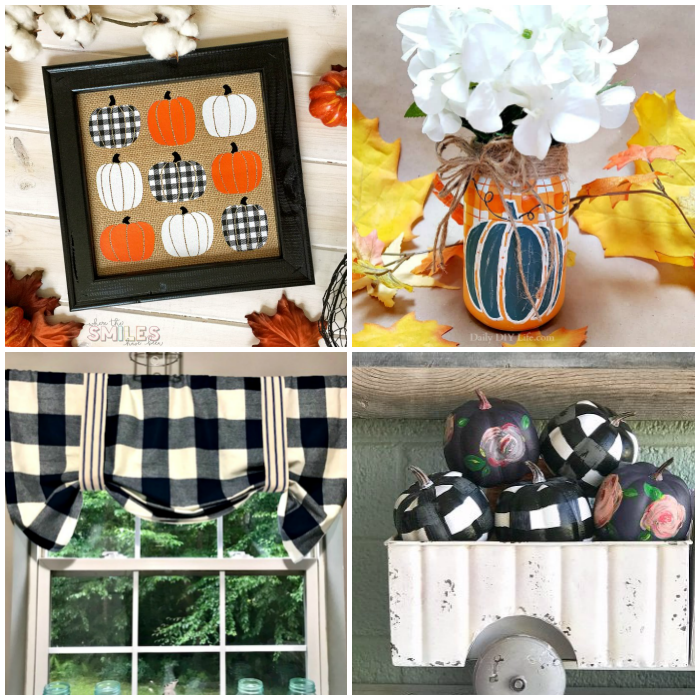 DIY Buffalo Check Fall Decorations 3