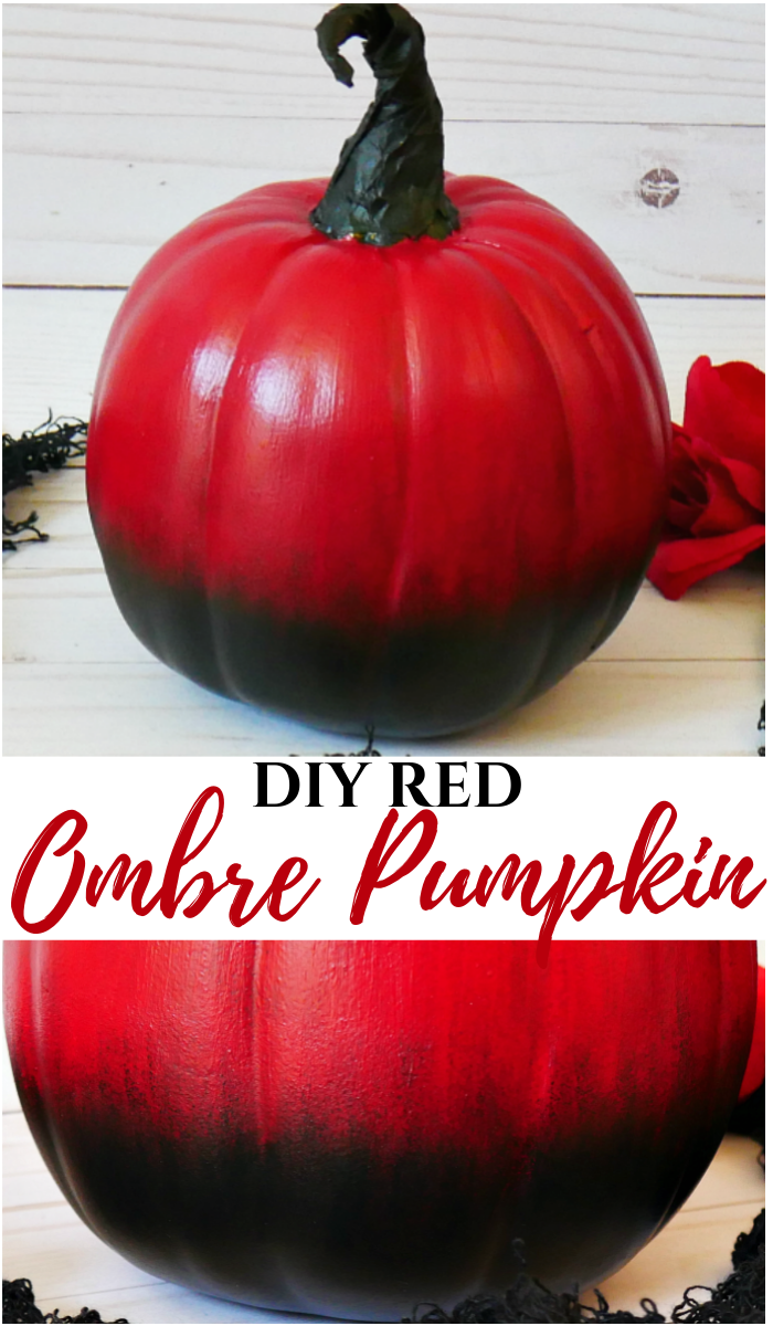 DIY Red Ombre Pumpkin