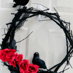 DIY Halloween Black Twig Wreath