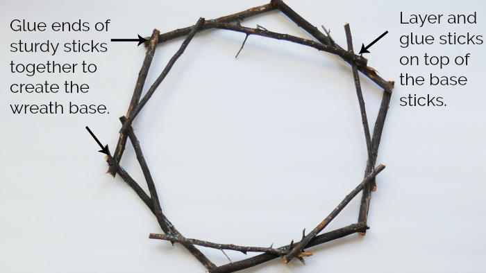 black twig wreath base