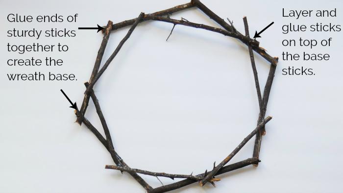 black twig wreath base