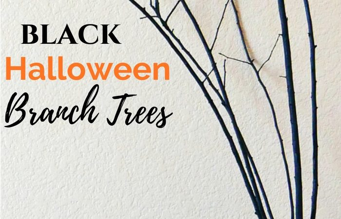 DIY Black Halloween Branch Trees