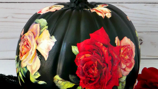 DIY Black Rose Pumpkin - 2 of 3