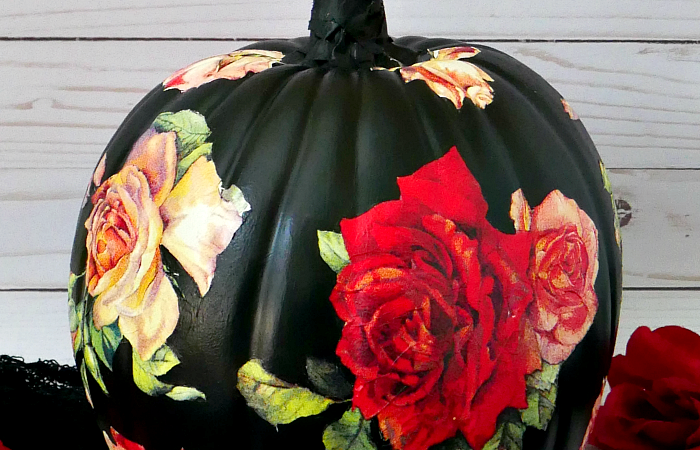 DIY Black Rose Pumpkin – 2 of 3