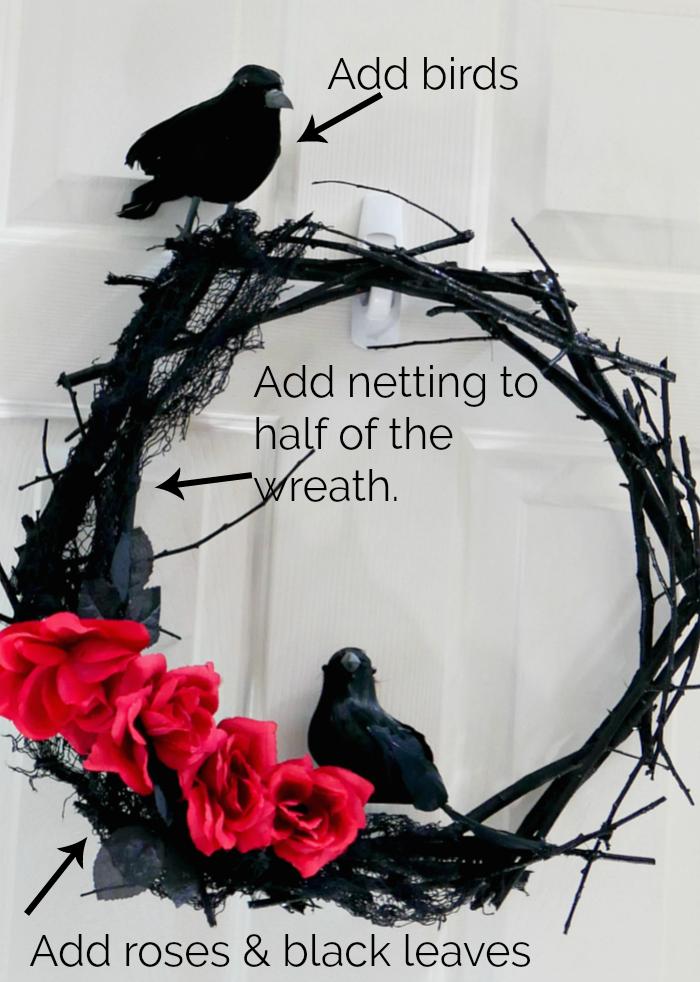 DIY Black Twig Wreath
