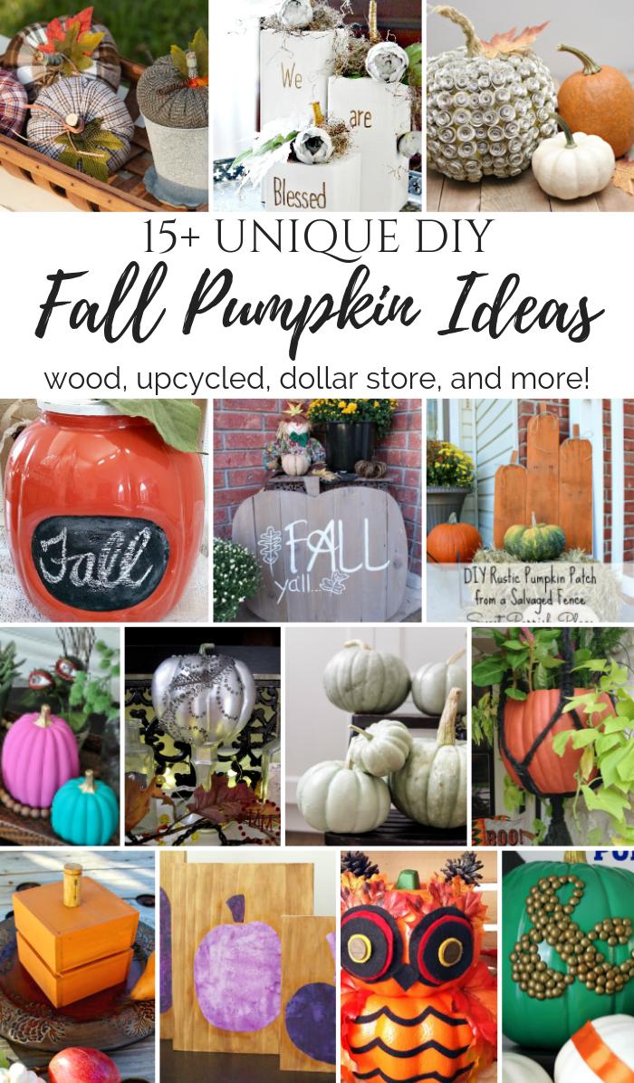 15+ Unique DIY Fall Pumpkin Ideas