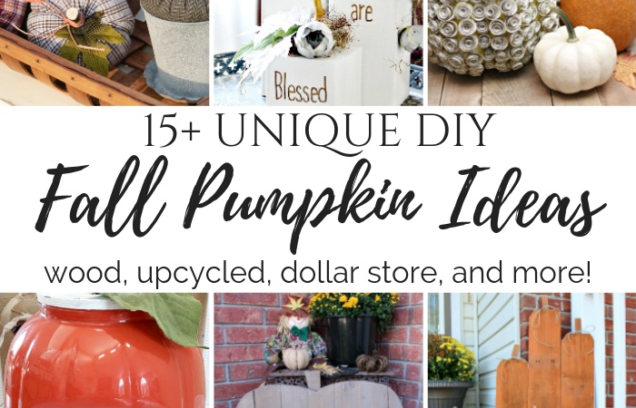 15+ Unique DIY Fall Pumpkin Ideas