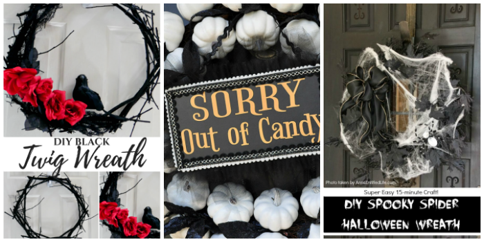 10 DIY Halloween Wreath Ideas with Tutorials