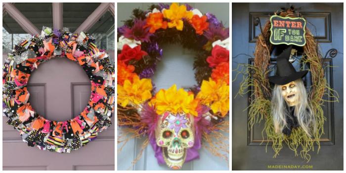 DIY Halloween Wreath Ideas 4