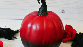 DIY Red Ombre Pumpkin - 3 of 3