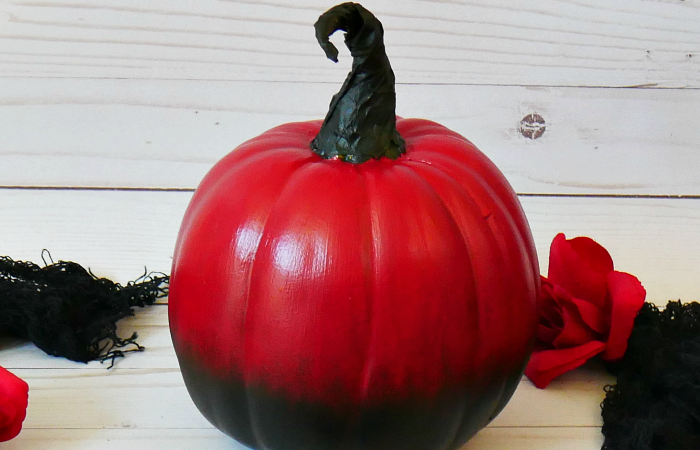 DIY Red Ombre Pumpkin – 3 of 3