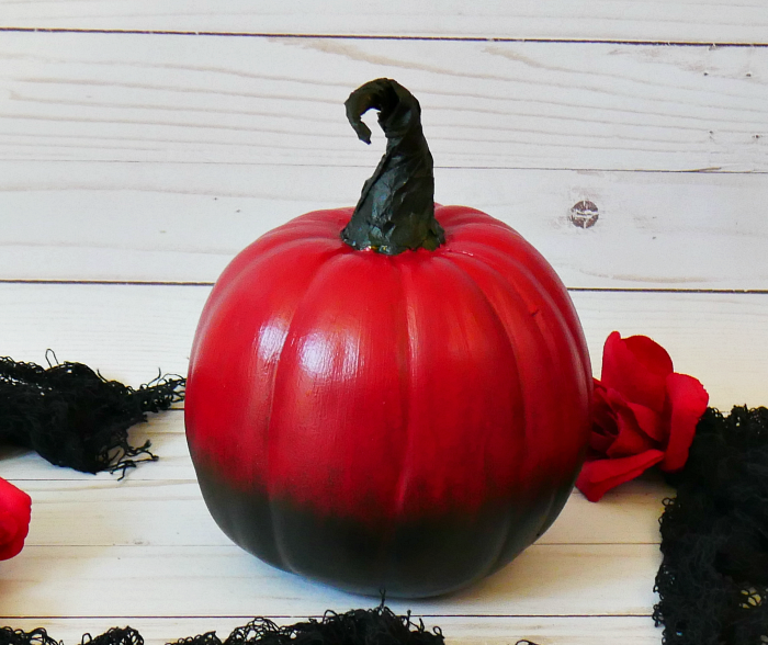 red ombre pumpkin single