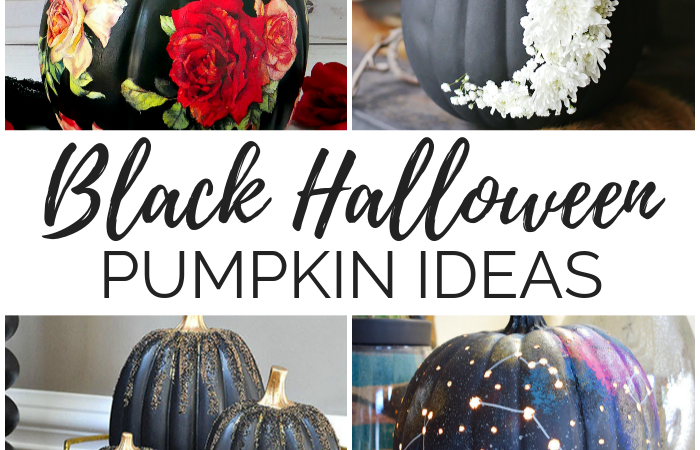 Black Halloween Pumpkin Ideas