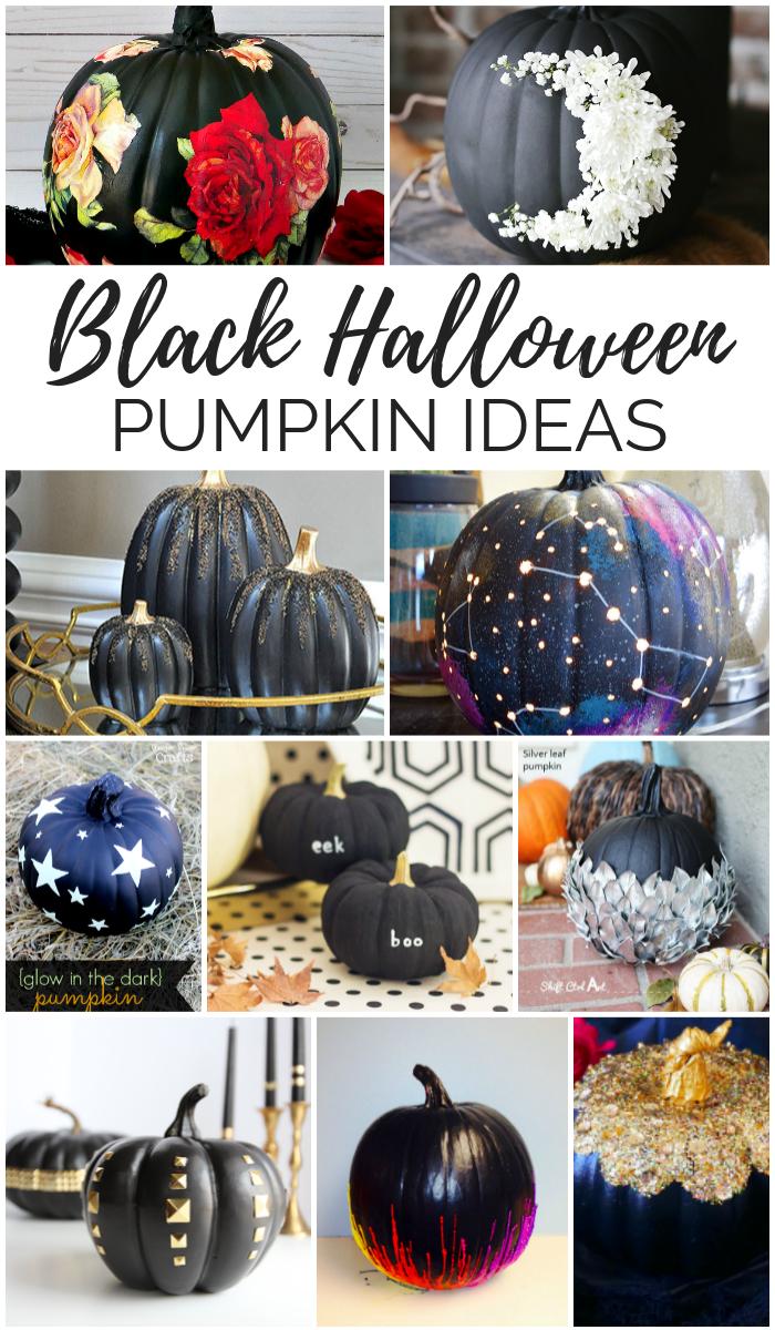 BLACK HALLOWEEN PUMPKIN IDEAS