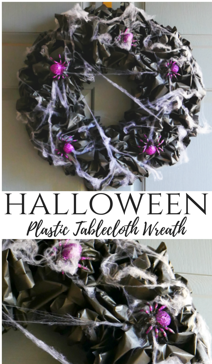 Halloween Plastic Tablecloth Wreath