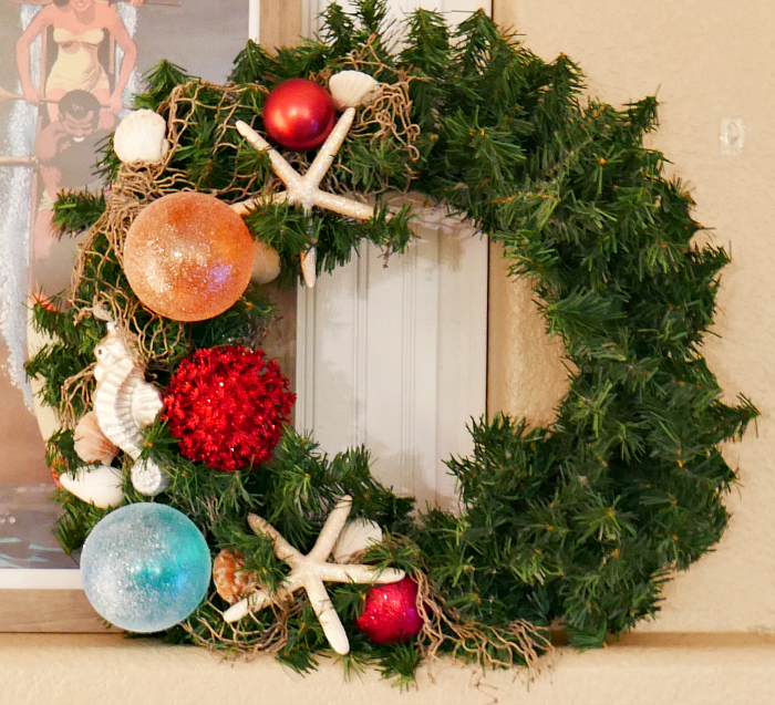 Coastal Ocean Christmas Wreath