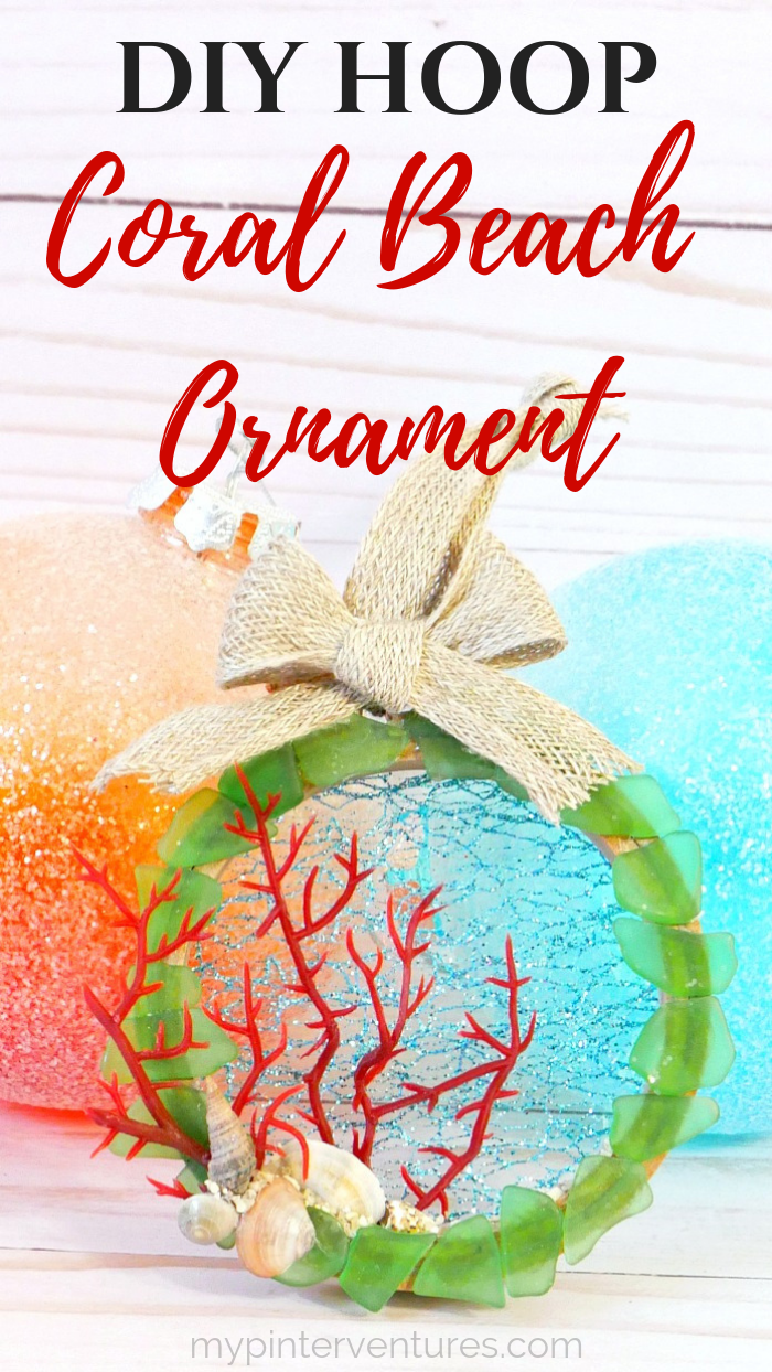 DIY Hoop Coral Beach Ornament