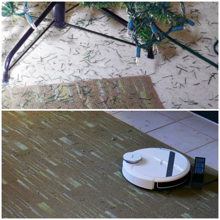 ECOVACS DEEBOT 900 cleaning the carpet