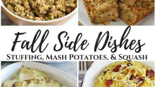 Fall Side Dishes - Stuffing, Mash Potatoes, & Squash