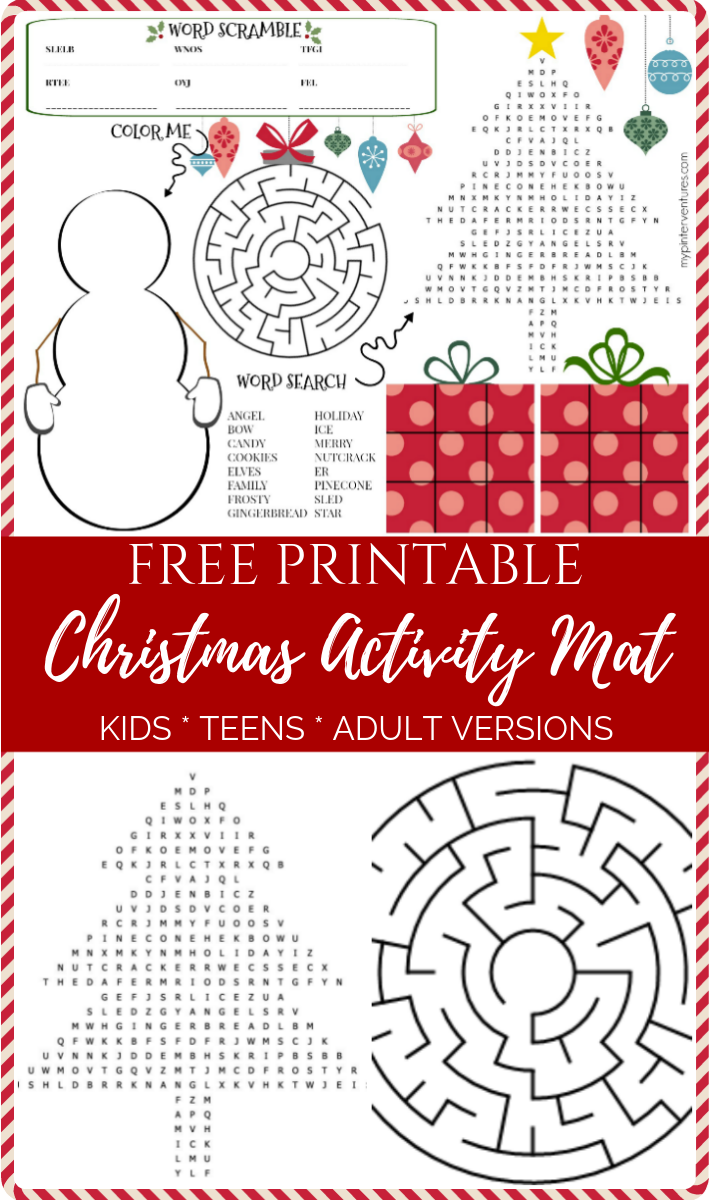 Free Printable Christmas Activity Mat