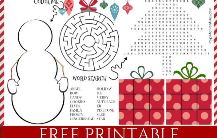 Christmas Activity Mat – Kids, Teens, & Adults