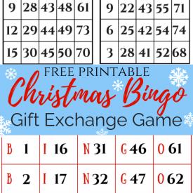 Christmas Bingo Gift Exchange slider