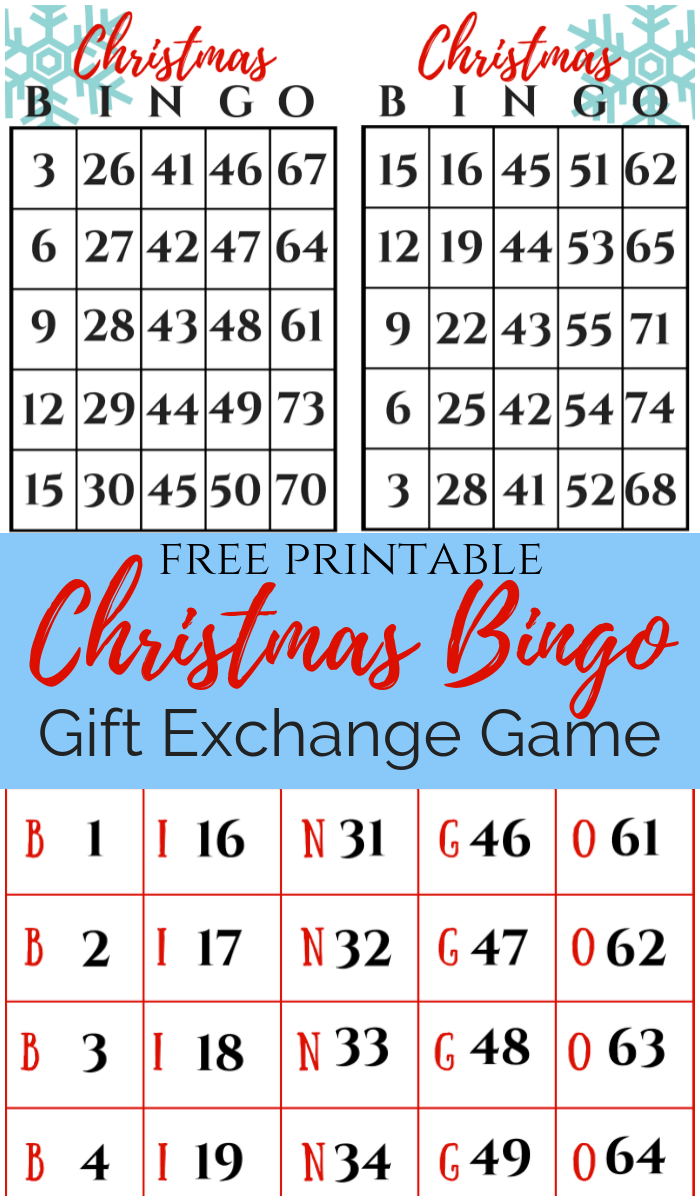Christmas Gift Exchange.Christmas Bingo Gift Exchange Game December Pin Challenge