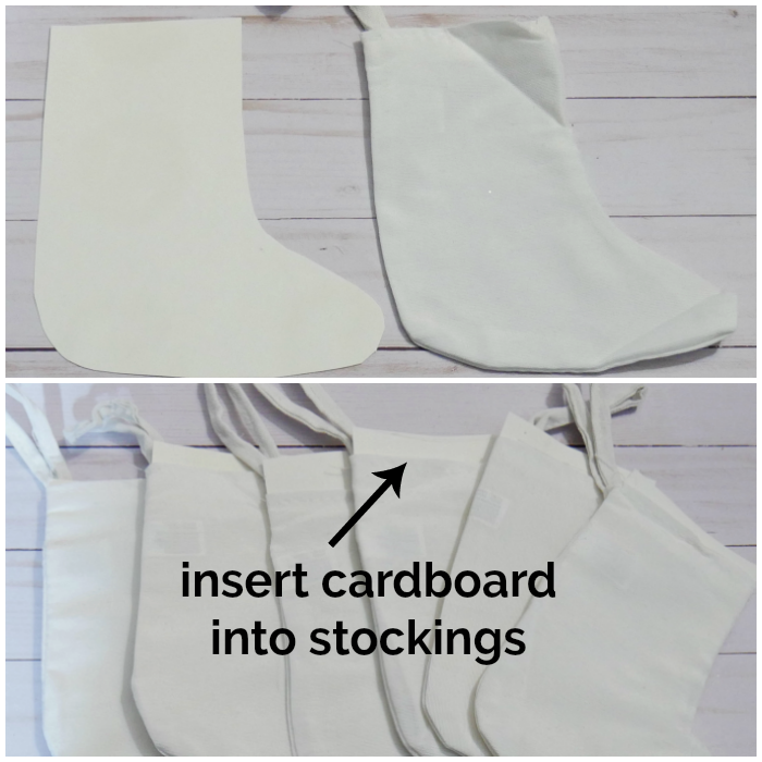 Cardboard stocking cut-out