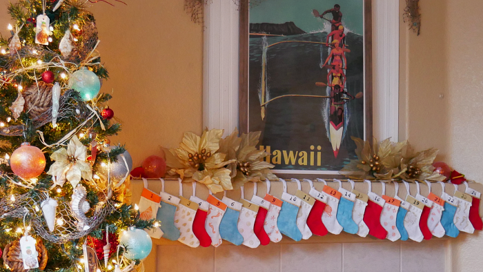 DIY Mini Stockings Coastal Advent Calendar