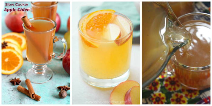 Slow cooker winter drinks