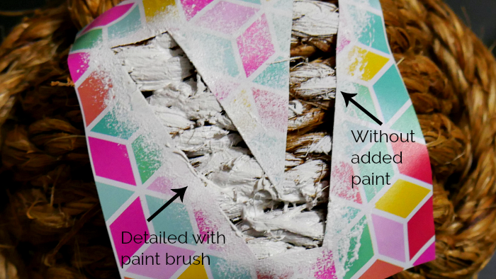Add paint with a stiff brush