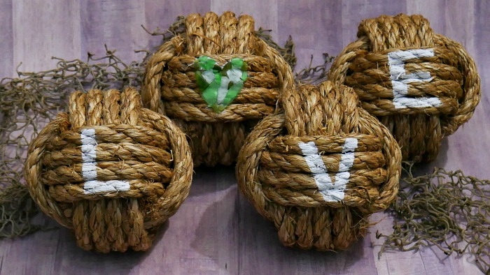 DIY Love Nautical Knots completed