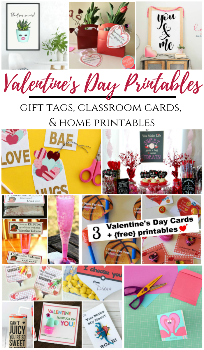 Valentine's Day Printables - gift tags, classroom cards, and home prints