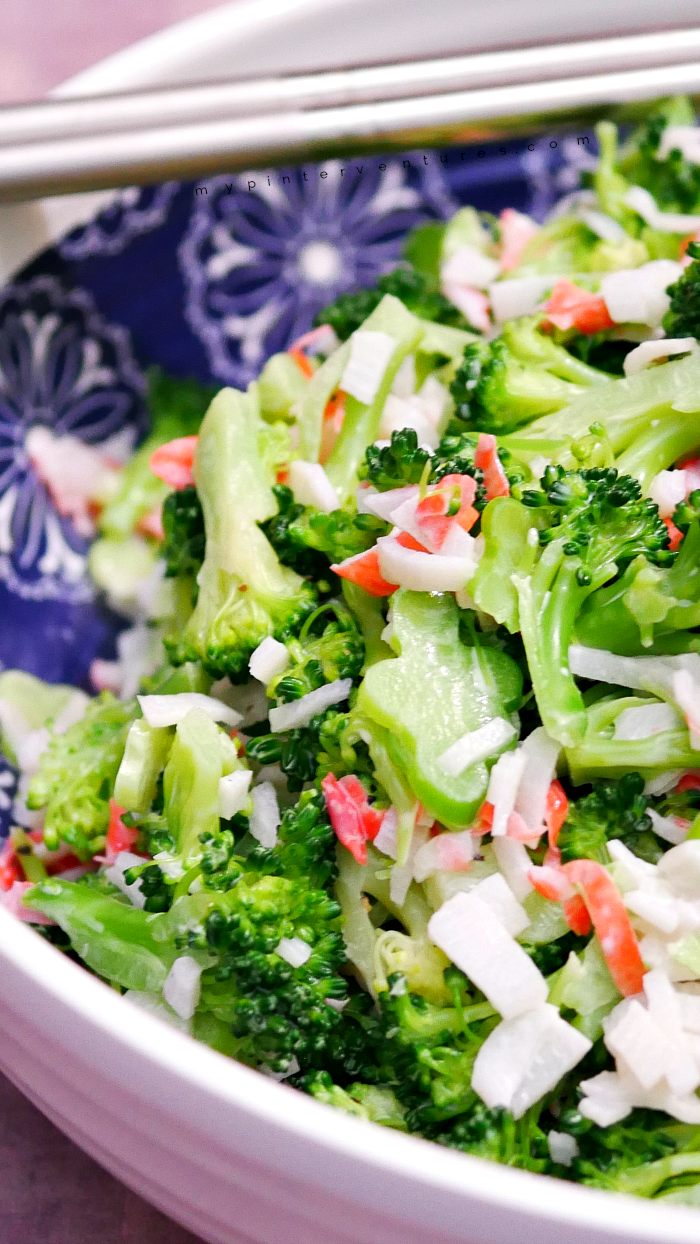 Broccoli and crab salad recipe