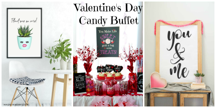 Valentine's Day Wall Art Printables