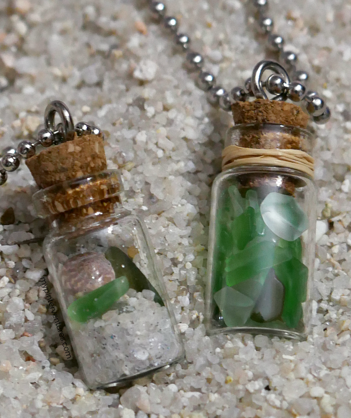 DIY Mini Bottle Tumbled Glass Necklace