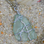 DIY Wire Wrapped Tumbled Glass Pendant
