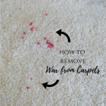 How to remove wax from the carpets