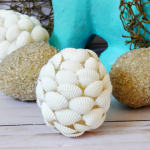 Seashell eggs craft