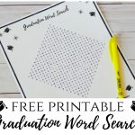 Graduation Word Search Printable