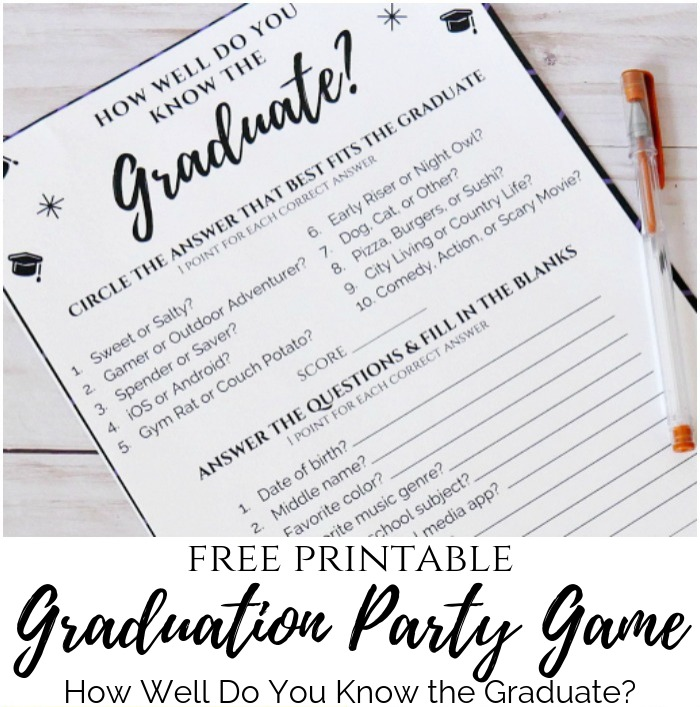 photograph about Free Graduation Printable named Commencement Match - How Nicely Do On your own Notice the Graduate? My