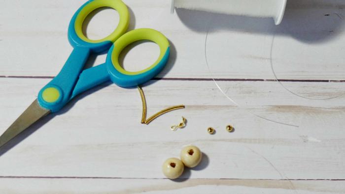 Wooden Bead Dangle Earrings Items
