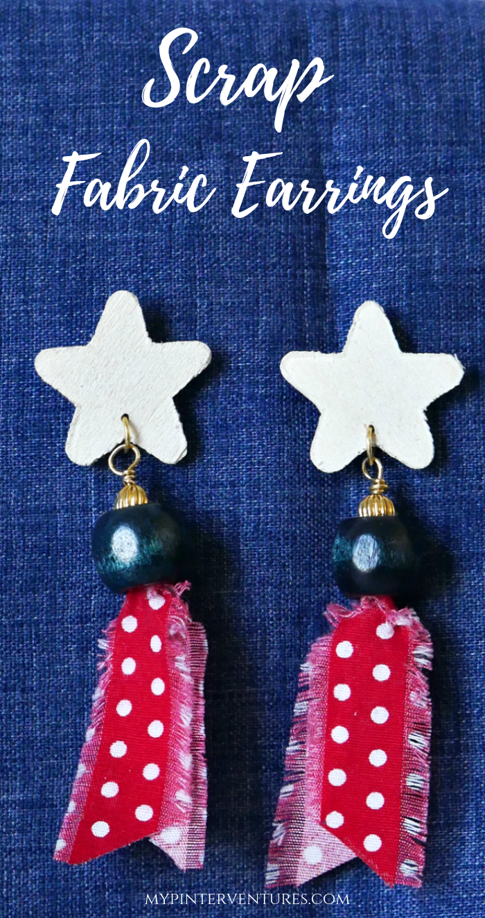 How to make Scrap Fabric Earrings. #earrings #jewelry #fabriccraft
