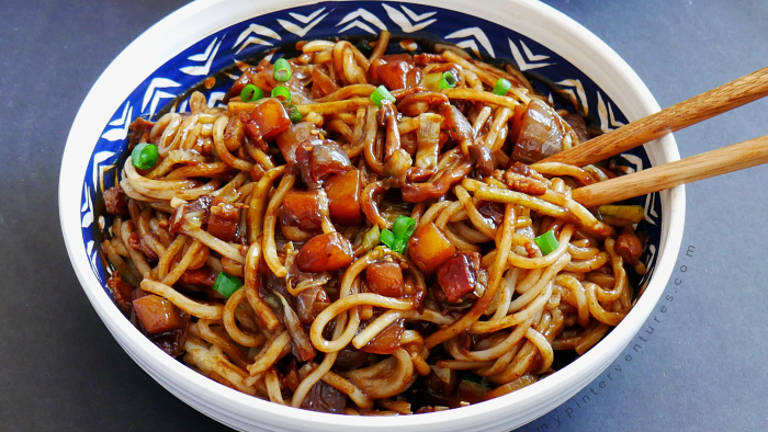 Bacon Jajangmyeon – Bacon Black Bean Noodles