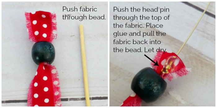 dot fabric through bead