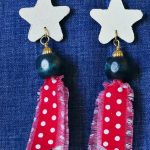 Fabric scrap earrings