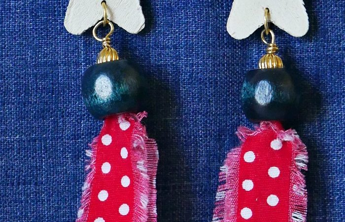 Scrap Fabric Earrings – Bring on the Crafts Blog Hop